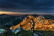 Photographers on the Niederhorn, Interlaken, Berne, Switzerland