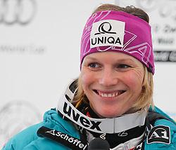 04.02.2011, Arber Zwiesel, GER, FIS World Cup Ski Alpin, Lady, Slalom, im Bild Siegerin Marlies Schild (AUT, #2) // Marlies Schild (AUT) bei der Pressekonferenz // during FIS Ski Worldcup ladies Slalom at Arber Zwiesel, Germany on 04/02/2011. EXPA Pictures © 2011, PhotoCredit: EXPA/ R. Hackl