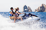 Splash in Cabo, romantic cruising in a wave runner by the arch of Cabo San Lucas