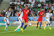 England Forward Jamie Vardy during the Euro 2016 Group B match between Slovakia and England at Stade Geoffroy Guichard, Saint-Etienne, France on 20 June 2016. Photo by Phil Duncan.