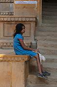 Girl resting in Udaipur - Rajasthan