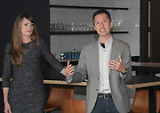 Apr 4, 2018; Los Angeles, CA, USA; Gensler Sports architect Kristin Byrd (left) and design director Steve Chung speaks at the grand opening of the LAFC Performance Center on the campus of Cal State LA. The 30,000 square foot and $30 million facility will serve as home of the LAFC players, staff, coaches and academy.
