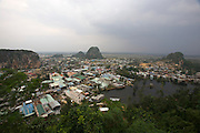 Marble Mountains. Thuy Son (Water Mountain). Panorama from Vong Hai Da viewpoint.