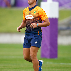 TOKYO, JAPAN - OCTOBER 15: Handre Pollard during the South African national rugby team training session at Fuchu Asahi Football Park on October 15, 2019 in Tokyo, Japan. (Photo by Steve Haag/Gallo Images)