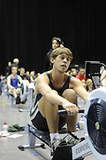 Birmingham, Great Britain, J16 Men, Jack BEAUMONT Maidenhead RC, on his way to setting a new record at the British Indoor Rowing Championships, National Indoor Arena, NIA, Sun, 22.11.2009  [Mandatory Credit. Peter Spurrier/Intersport Images]