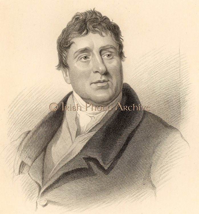 Thomas Telford (1757-1834) Scottish civil engineer, born at Westkirk, Langholm, Scotland.   Apprenticed to a stonemason at the age of 14, he became the eminent civil engineer of his generation and was called the Colossus of Roads for the improvements he made to 1,000 miles of roads.  Among his works are the Ellesmere Canal which included the Chirk viaduct and the Pont Cysylte aqueduct, the Caledonian Canal, improvements to the London to Holyhead road which included the Menai  Suspension Bridge, and St Katherine's Docks, London.  Engraving from 'Lives of the Engineers' by Samuel Smiles (London, 1862).