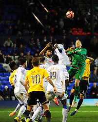 Bristol Rovers' Steve Mildenhall came up for a late corner - Photo mandatory by-line: Neil Brookman/JMP - Mobile: 07966 386802 - 08/11/2014 - SPORT - Football - Birkenhead - Prenton Park - Tranmere Rovers v Bristol Rovers - FA Cup - Round One