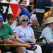 Family and friends watches the event from the stands during the Summer Swim league championships finials Saturday, July. 17, 2015 at Western YMCA in Wilmington, DEL
