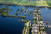 Nederland, Utrecht, Gemeente Abcoude, 25-05-2010; Vinkeveensche Plassen met villa's, jachthaven en bootjes. A2 boven in beeld..luchtfoto (toeslag), aerial photo (additional fee required).foto/photo Siebe Swart.----