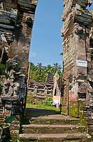 Portal at Pura Kehen Temple near Bangli in Eastern Bali Indonesia