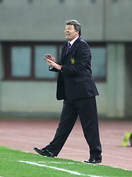 VIENNA, AUSTRIA - WEDNESDAY MARCH 30th 2005: Wales' manager John Toshack on the touchline against Austria during the World Cup Qualifying Group Six match at the Ernst Happel Stadium. (Pic by David Rawcliffe/Propaganda)