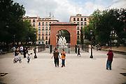 Plaza Dos de Mayo, en el centro de Malasaña.