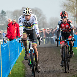2019-12-27 Cycling: dvv verzekeringen trofee: Loenhout: The moment Eli Iserbyt lost the race