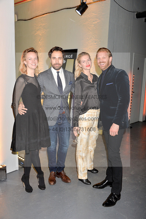 LONDON, ENGLAND 6 DECEMBER 2016: <br /> Charlotte Carrol, Diego Bivero-Volpe, Barbora Bediova, Alistair Guy at the Fabergé Visionnaire DTZ Launch held on the 39th Floor Penthouse, South Bank Tower, Upper Ground, London, England. 6 December 2016.