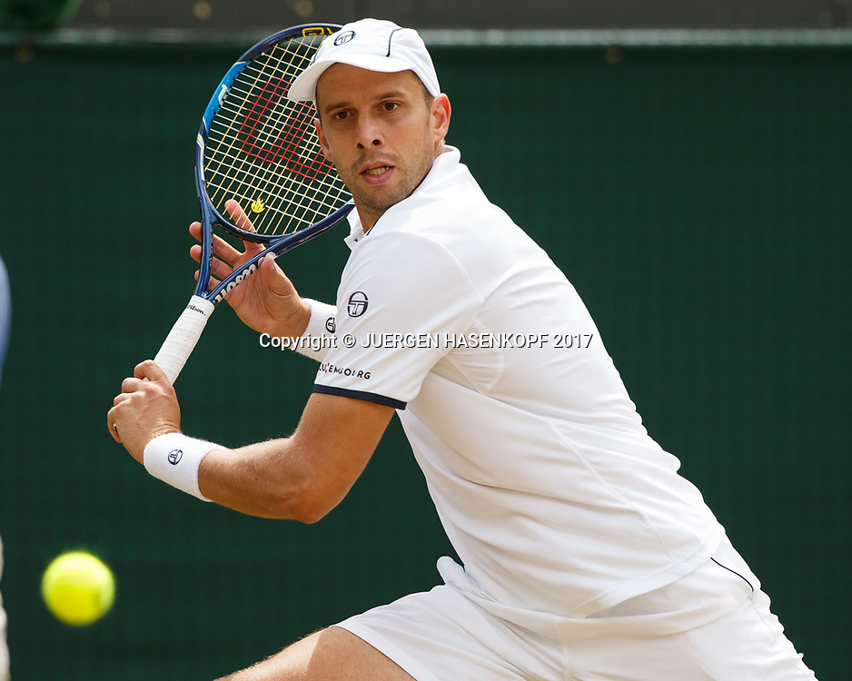 GILLES MULLER (LUX)<br /> <br /> Tennis - Wimbledon 2017 - Grand Slam ITF / ATP / WTA -  AELTC - London -  - Great Britain  - 12 July 2017.