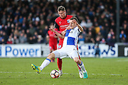 Bristol Rovers Tom Lockyer and Barrow's Richard Bennett during the The FA Cup match between Bristol Rovers and Barrow at the Memorial Stadium, Bristol, England on 4 December 2016. Photo by Shane Healey.