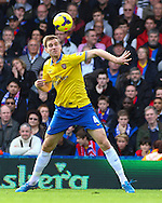 Picture by David Horn/Focus Images Ltd +44 7545 970036<br /> 26/10/2013<br /> Per Mertesacker of Arsenal during the Barclays Premier League match at Selhurst Park, London.