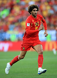 Belgium's Marouane Fellaini during the FIFA World Cup Group G match at Kaliningrad Stadium. PRESS ASSOCIATION Photo. Picture date: Thursday June 28, 2018. See PA story WORLDCUP England. Photo credit should read: Adam Davy/PA Wire. RESTRICTIONS: Editorial use only. No commercial use. No use with any unofficial 3rd party logos. No manipulation of images. No video emulation