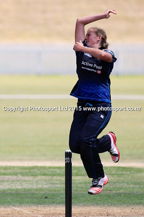 Morna Nielsen, 2nd Womens One Day International , New Zealand White Ferns v England at Mount Maunganui, New Zealand. 13 February 2015. Photo credit: Margot Butcher / www.photosport.co.nz