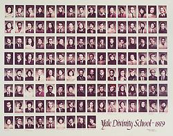 1979 Yale Divinity School Senior Portrait Class Group Photograph