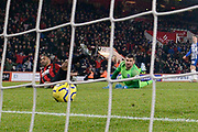 Goal - Callum Wilson (13) of AFC Bournemouth scores a goal to give a 3-0 lead during the Premier League match between Bournemouth and Brighton and Hove Albion at the Vitality Stadium, Bournemouth, England on 21 January 2020.