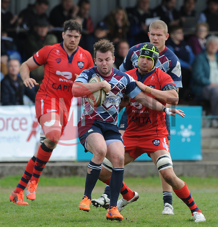 Bristol Rugby Lock Mark Sorenson challenges for the ball - Photo mandatory by-line: Dougie Allward/JMP - Mobile: 07966 386802 - 10/05/2015 - SPORT - Rugby - Sheffield - Abbeydale Dale Sports - Rotherham Titans v Bristol Rugby - Greene King IPA Championship