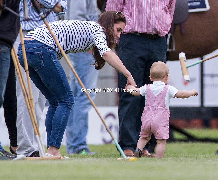 The Duchess of Cambridge and Prince George today watched Prince William and Harry play polo. Image ©Licensed to i-Images Picture Agency. 15/06/2014. Cirencester, United Kingdom. Jerudong Polo Trophy. Cirencester Polo Club. Picture by i-Images