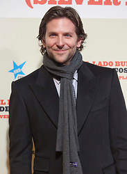 Bradley Cooper nominated for Best supporting actor for the Oscars 2014.Bradley Cooper. <br /> Actor Bradley Cooper attends the 'Silver Linings Playbook' (El Lado Bueno De Las Cosas) premiere at the Callao cinema on January 16, 2013, Madrid, Spain. Photo by Oscar Gonzalez / i-Images...SPAIN OUT