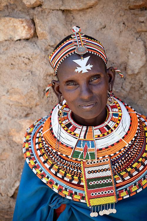 Samburu woman in traditional dress