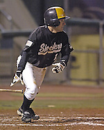 Wichita State's Kenny Waddell lines a double to left center in the top of the seventh inning against Kansas State.  K-State defeated the 19th ranked Shockers 6-3 at Tointon Stadium in Manhattan, Kansas, March 14, 2006.