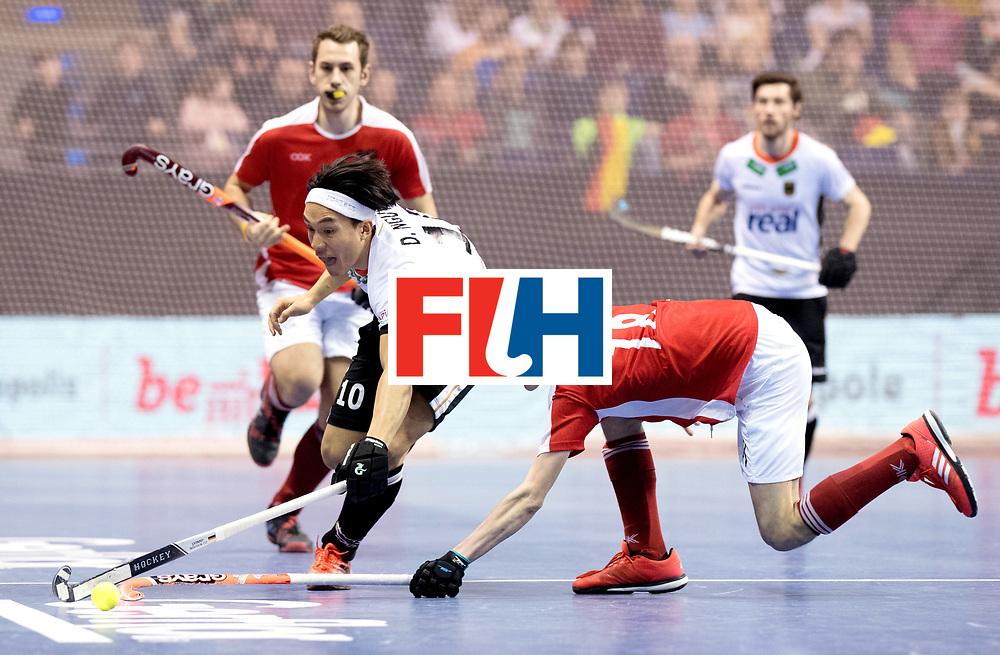 BERLIN - Indoor Hockey World Cup<br /> Final: Germany - Austria<br /> foto: Dan Nguyen and Fabian Unterkircher.<br /> WORLDSPORTPICS COPYRIGHT FRANK UIJLENBROEK