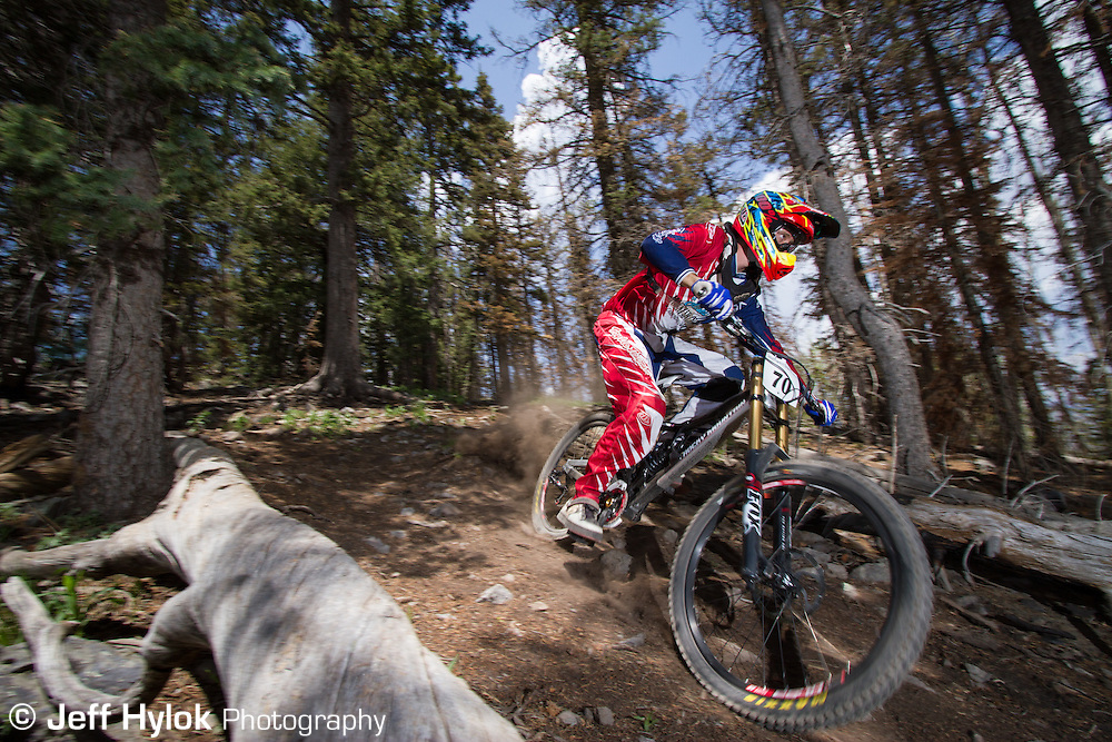 Downhill practice rides before the 2012 Pajarito Punishment race