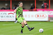 Forest Green Rovers Liam Kitching(20) passes the ball forward during the EFL Sky Bet League 2 match between Exeter City and Forest Green Rovers at St James' Park, Exeter, England on 12 October 2019.