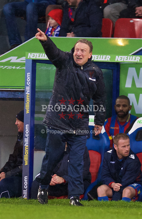 LONDON, ENGLAND - Sunday, November 23, 2014: Crystal Palace's manager Neil Warnock during the Premier League match against Liverpool at Selhurst Park. (Pic by David Rawcliffe/Propaganda)
