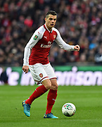 Granit Xhaka (29) of Arsenal during the EFL Cup Final match between Arsenal and Manchester City at Wembley Stadium, London, England on 25 February 2018. Picture by Graham Hunt.