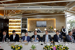 May 23, 2019 - Sao Paulo, Sao Paulo, Brazil - The minister of economy of the Brazil PAULO GUEDES lunch with thirty business men of Sao Paulo city at headquarter of the federation of the industries of the state. GUEDES and the government of the president JAIR BOLSONARO try approve the social security reform in the national congress what according to them is crucial to the growth of the economy in the next  years. Sao Paulo, Brazil, May 23, 2019. (Credit Image: © Marcelo Chello/ZUMA Wire)
