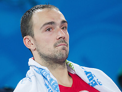 Damir Markota #12 of Croatia looks dejected during basketball match between National teams of Lithuania and Croatia in Semifinals at Day 17 of Eurobasket 2013 on September 20, 2013 in Arena Stozice, Ljubljana, Slovenia. (Photo by Vid Ponikvar / Sportida.com)
