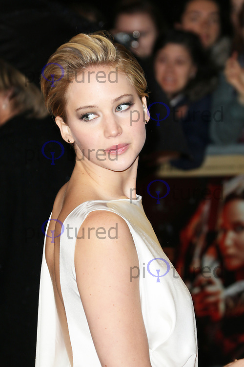 Jennifer Lawrence, The Hunger Games: Catching Fire - World film premiere, Leicester Square, London UK, 11 November 2013, Photo by Richard Goldschmidt