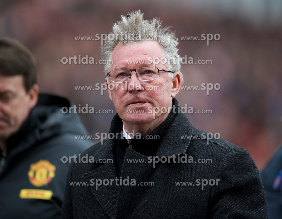 14.04.2013, Britannia Stadion, Stoke on Trent, ENG, Premier League, Stoke City vs Manchester United, 33. Runde, im Bild Manchester United's manager Alex Ferguson during the English Premier League 33th round match between Stoke City FC and Manchester United at the Britannia Stadium, Stoke on Trent, Great Britain on 2013/04/14. EXPA Pictures © 2013, PhotoCredit: EXPA/ Propagandaphoto/ David Rawcliffe..***** ATTENTION - OUT OF ENG, GBR, UK *****