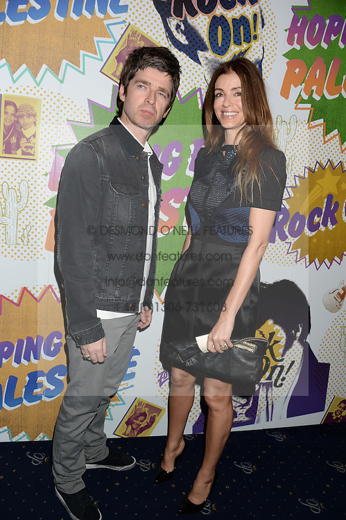 NOEL GALLAGHER and SARA MACDONALD at the Hoping Foundation's 'Rock On' Benefit Evening for Palestinian refuge children held at the Cafe de Paris, London on 20th June 2013.