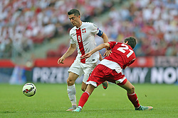 13.06.2015, Nationalstadion, Warschau, POL, UEFA Euro 2016 Qualifikation, Polen vs Greorgien, Gruppe D, im Bild ROBERT LEWANDOWSKI // during the UEFA EURO 2016 qualifier group D match between Poland and Greorgia at the Nationalstadion in Warschau, Poland on 2015/06/13. EXPA Pictures © 2015, PhotoCredit: EXPA/ Pixsell/ LUKASZ GROCHALA/CYFRASPORT<br /> <br /> *****ATTENTION - for AUT, SLO, SUI, SWE, ITA, FRA only*****