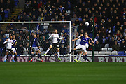Marc Roberts (4) clears during the EFL Sky Bet Championship match between Birmingham City and Fulham at the Trillion Trophy Stadium, Birmingham, England on 9 November 2019.