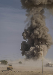 October 18, 2016 - Gwer, Kurdistan Regional Goverment are, Iraq - Coalition airstrikes against a village controlled by the isis close to Gwer. (Credit Image: © Bertalan Feher via ZUMA Wire)