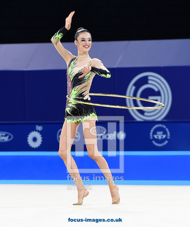 Laura Halford WAL during the Rhythmic Gymnastics Hoops final at SSE Hydro, Glasgow<br /> Picture by Alan Stanford/Focus Images Ltd +44 7915 056117<br /> 26/07/2014
