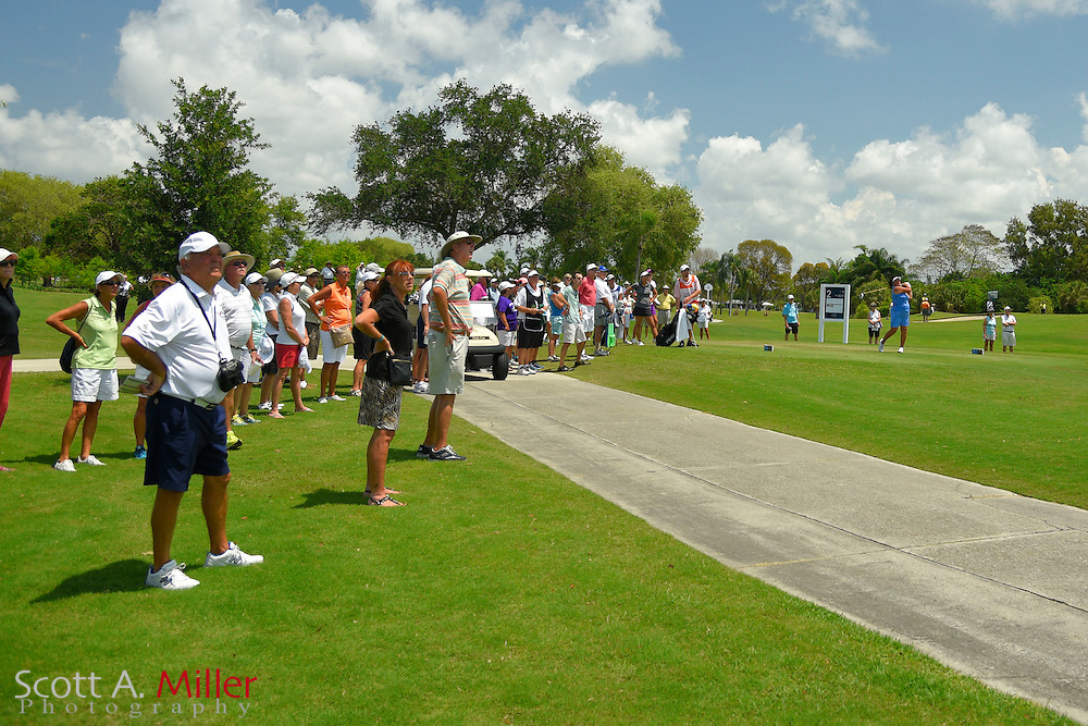 The gallery during the third round of the Symetra Tour's Chico's Patty Berg Memorial on April 18, 2015 in Fort Myers, Florida.<br /> <br /> &copy;2015 Scott A. Miller