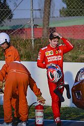 February 28, 2019 - Barcelona, Catalonia, Spain - Charles Leclerc Ferrari incident during F1 test celebrated at Circuit of Barcelona 28th February 2019 in Barcelona, Spain. (Credit Image: © Marc Vinals/NurPhoto via ZUMA Press)