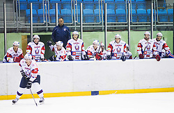 Players of Slovenia and Matjaz Kopitar, head coach of Slovenia during Friendly Ice-hockey match between National teams of Slovenia and Italy on April 5, 2013 in Ice Arena Tabor, Maribor, Slovenia. (Photo By Vid Ponikvar / Sportida)