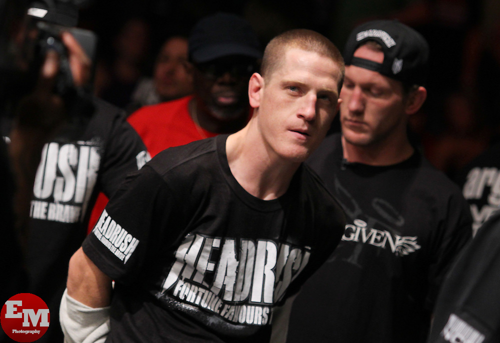 Atlanta, GA - April 21, 2012: Mac Danzig during his bout against Efrain Escudero at UFC 145 at the Phillips Arena in Atlanta, Georgia.