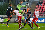 Onderwerp/Subject: FC Utrecht - Willem II - Eredivisie<br /> Reklame:  <br /> Club/Team/Country: <br /> Seizoen/Season: 2012/2013<br /> FOTO/PHOTO: Goalkeeper Robbin RUITER (L) of FC Utrecht in duel with Jordens PETERS (L) of Willem II. (Photo by PICS UNITED)<br /> <br /> Trefwoorden/Keywords: <br /> #04 #18 $94 ±1354626289759<br /> Photo- & Copyrights © PICS UNITED <br /> P.O. Box 7164 - 5605 BE  EINDHOVEN (THE NETHERLANDS) <br /> Phone +31 (0)40 296 28 00 <br /> Fax +31 (0) 40 248 47 43 <br /> http://www.pics-united.com <br /> e-mail : sales@pics-united.com (If you would like to raise any issues regarding any aspects of products / service of PICS UNITED) or <br /> e-mail : sales@pics-united.com   <br /> <br /> ATTENTIE: <br /> Publicatie ook bij aanbieding door derden is slechts toegestaan na verkregen toestemming van Pics United. <br /> VOLLEDIGE NAAMSVERMELDING IS VERPLICHT! (© PICS UNITED/Naam Fotograaf, zie veld 4 van de bestandsinfo 'credits') <br /> ATTENTION:  <br /> © Pics United. Reproduction/publication of this photo by any parties is only permitted after authorisation is sought and obtained from  PICS UNITED- THE NETHERLANDS