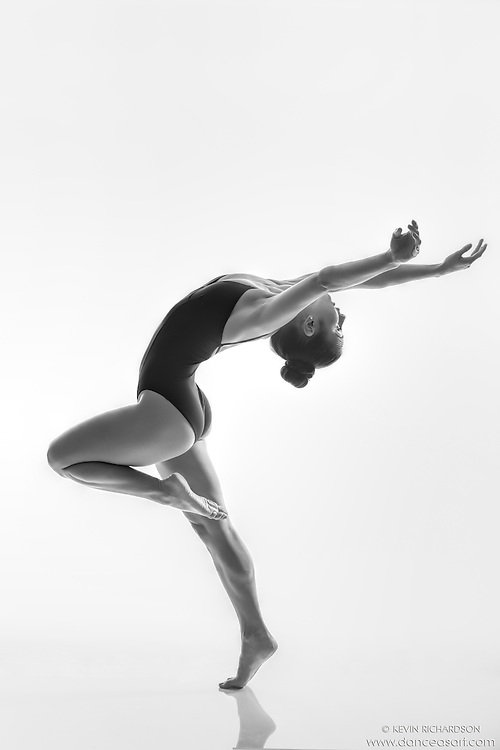 Black and white dance photography-Reaching Back -featuring Dance As Art dancer Darielle Loprete
